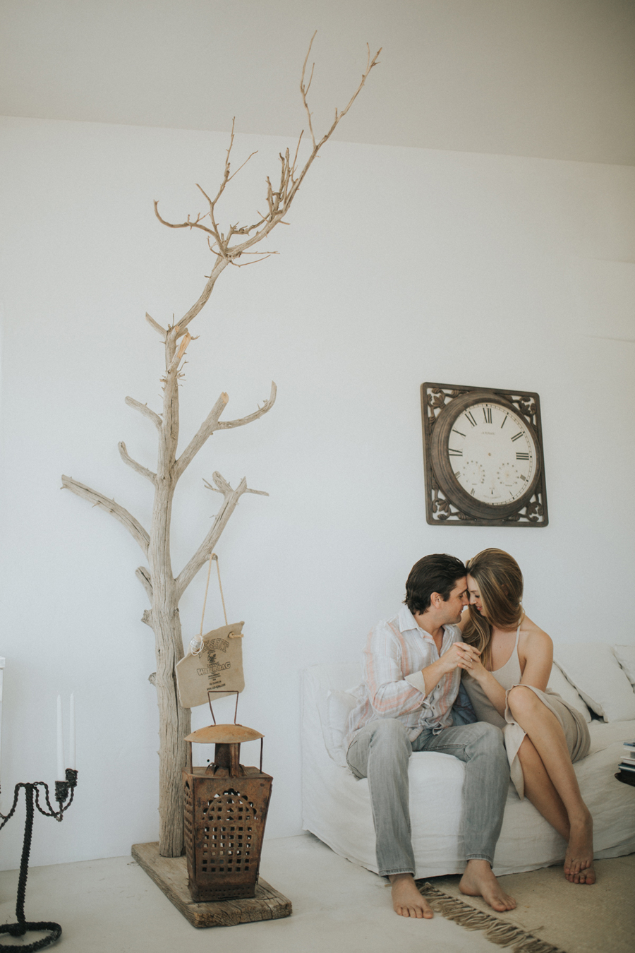 intimate Joshua Tree engagement session