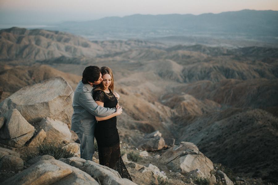 intimate Joshua Tree engagement session