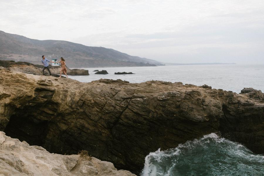 malibu beach engagement